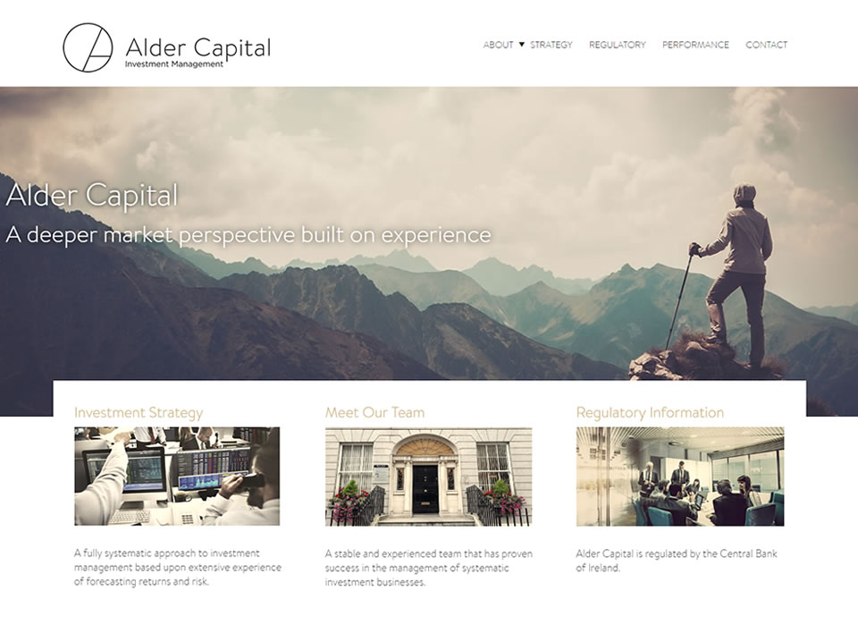 alder capital website design