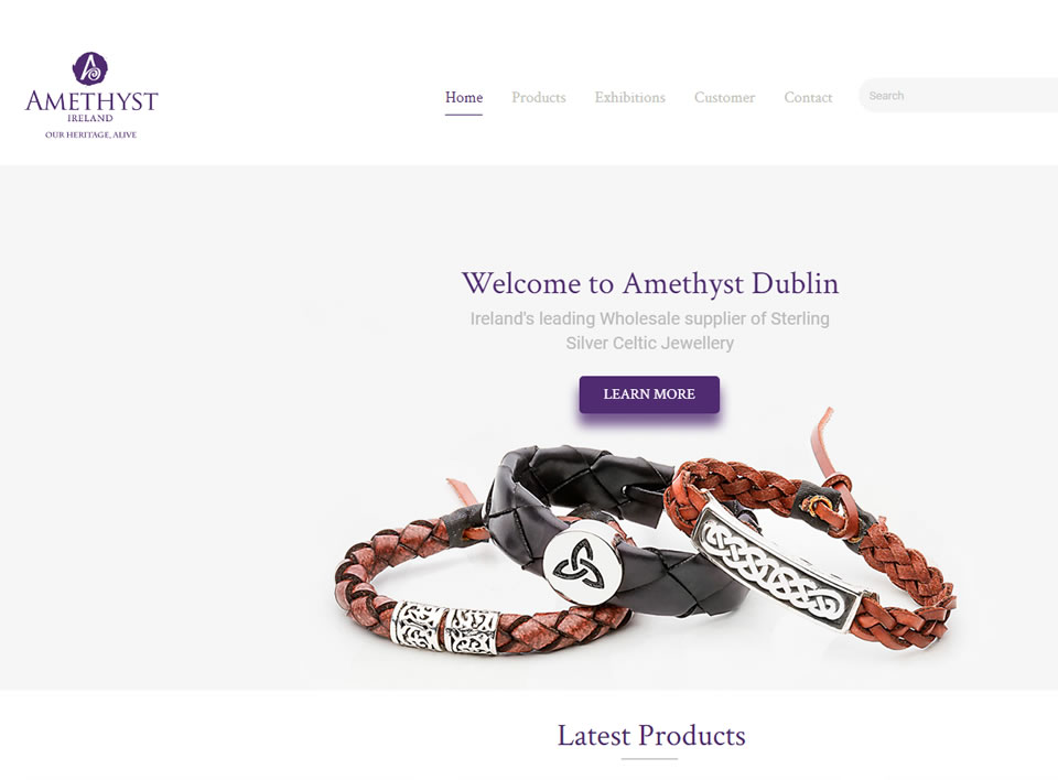 amethyst duvblin web design