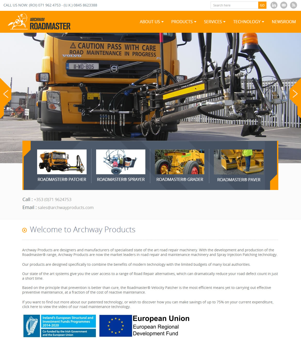 archway products web design